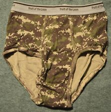 Vtg FTL Fruit of the Loom Rugged Coll CAMO RARE CAMOUFLAGE Men Brief Sz Sm 30-32