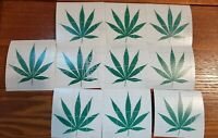 "Pot Leaf Cannabis Vinyl Decal Sticker 420 Marijuana Weed lot of 10 size 3"" inch"