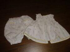 BOUTIQUE JACADI PARIS 3M 3 MONTHS YELLOW FLORAL DRESS PANTALOON SET