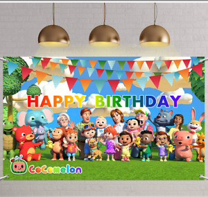 Cocomelon Party Decorations, Cocomelon Birthday Banners Backdrop