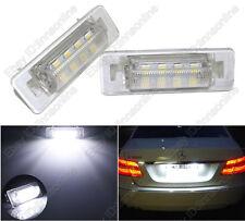 2pcs Super White LED License Plate Lights For Benz C-Class W202 Sedan Error Free