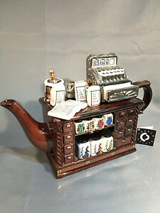 """CARDEW NOVELTY COLLECTABLE LARGE TEAPOT TEA COUNTER PERFECT CONDITION H 8""""-20cm"""