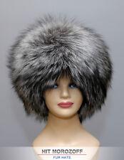 Premium SAGA SILVER FOX Fur Hat Schapka Silberfuchs Pelzmütze Fellmütze Mütze