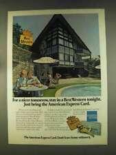 1976 Best Western Ad -Bring American Express Card