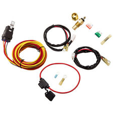 Electric Cooling Fan Wiring Thermostat Harness Relay Kit 185/165 Degree 40Amp