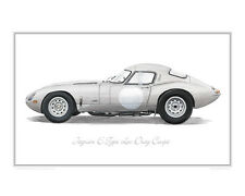 Jaguar E-Type Low Drag -Limited Edition Classic Car Print Poster by Steve Dunn