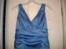 Cornflower Blue Sleeveless Long Formal Bridesmaids Dress Size 8