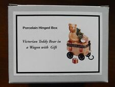 Midwest Cannon Falls Victorian Teddy Bear In Wagon Phb Porcelain Hinged Box Mib