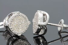 .27 CARAT WHITE GOLD FINISH MENS WOMENS 9mm 100% REAL DIAMONDS EARRINGS STUDS