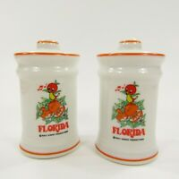 Vintage Salt Pepper Shakers Set Walt Disney Florida Orange Bird Japan     INV149