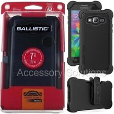 BALLISTIC Samsung Galaxy GRAND Prime Tough Jacket MAXX Holster Case Cover BLACK