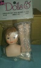 LOT OF 6 MANGELSENS PORCELAIN BOY HEAD, HANDS AND LEGS NEW IN PACKAGE 161-26