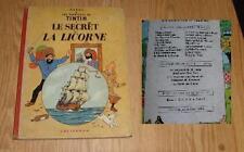 TINTIN ALBUM  le SECRET DE LA LICORNE  (B29 1960/1961 )27émdition