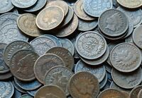 10 Indian Head Penny Coins - LARGE COLLECTION 1858-1909 - Old Estate Sale Lot