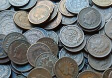100 Indian Head Cents - Old American Small Cent Penny Lot -1859-1909 Good Coins