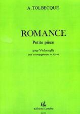 Partition pour violoncelle - Auguste Tolbecque - Petites Pièces - n° 1 Romance
