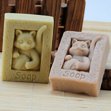 Soap Molds Cat Silicone Diy Craft Flexible Handmade Soap Making Resin Wax Mould