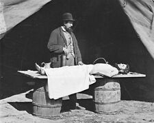 New 11x14 Civil War Photo: Embalming Surgeon at Work on a Federal Casualty