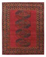 Antique Hand Made Traditional Red Afgan Nain Parsian Oriental Wool Area Rug