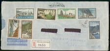 Mayfairstamps GREECE COMMERCIAL 1960s COVER OMONIA REGISTERED AIR MAIL wwm29127