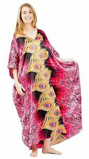 Up2date Fashion Fushia Peacock Print Caftan, Style Caf-82C2