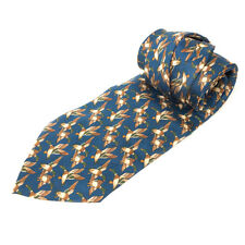 Vintage Antiche Seterie Fiorentine Italy Men's Seta Silk Duck Theme Pattern Tie
