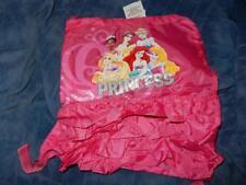Disney Pink Princess Dress /Cinch Bag Rapunzel, Ariel, Bell New With Tags
