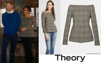 NWT Meghan Markle Plaid Off-Shoulder Theory Jacket Size 2.