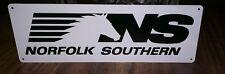Norfolk southern advertising metal sign vintage mechanics garage 4x12 50034