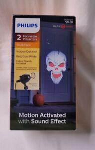 Philips Halloween Skull/Face Red/Cool White 2 Focus Projector Indoor/Outdoor NEW