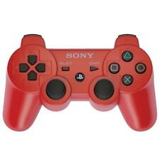 SONY SIXAXIS PLAYSTATION 3 WIRELESS BLUETOOTH PS3 CONTROLLER RED + Cable