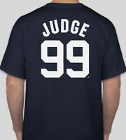 Aaron Judge New York Yankees Primary Logo Short Sleeve T-Shirt - Navy Baseball