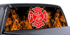 VuScapes Truck Rear Window Graphic - 4 SIZES AVIAL. -FIRE FIGHTER 8