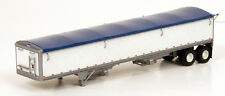 Lonestar 6005 Ho Scale Wilson 43' Pacesetter Grain Trailer Kit White/Blue 1/87
