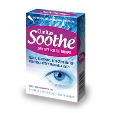 Clinitas Soothe Lubricant Eye Drops vials x 10 £££ SAVER trade pack