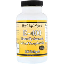 Vitamin E-400IU 180 Capsules | No Oil Fillers | Non-GMO Antioxidant | Hair Skin