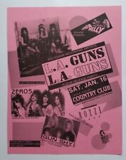 LA GUNS/Zeros Original Concert Flyer Poster 1988 Guns N' Roses Motley Crue WASP