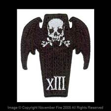 Patch Coffin 13 Skull Death Gothic Coffin Bat Wings Punk Horror Monster NFP002