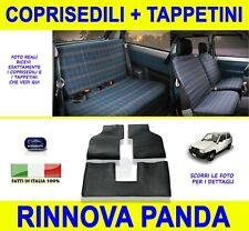 Per Fiat Panda 750 Tappetini in gomma con coprisedili fodere tappeti 1986>2003