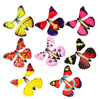 5Pcs Trick Magic Prop Butterfly Flying Toy Wind Up Children's Birthday Gifts