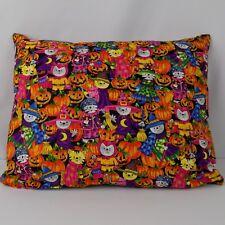 Handmade Halloween Cat Pillow 15 inches by 11 inches zipper closure Pumpkin