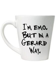 I'm Emo But In A Gerard Way White Tea or Coffee Latte Mug