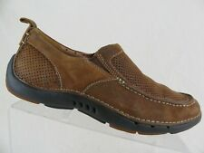 CLARKS Unstructured Suede Brown Sz 7 M Men Driving Loafer Moccasins