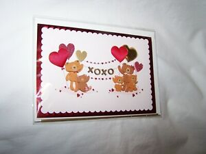 Hallmark Signature Valentine's Day Greeting Card; Bears & Hearts
