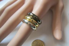 Lote 3 anillos acrílico metalizados nº 7 ó 16,8 mm diámetro bisutería r-17