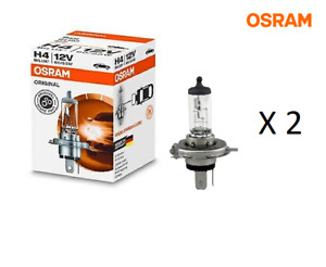 2 x osram h4 64193 Headlight Bulb (2 Globes)