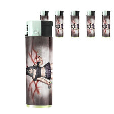 Bad Girl Pin Up D3 Lighters Set of 5 Electronic Refillable Butane