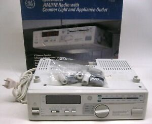 Vintage 1990's GE Space Maker Under The Counter AM/FM Clock Radio w/Red LED