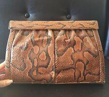 Vintage Snakeskin Clutch