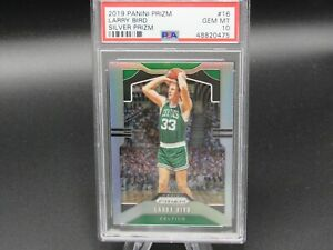 2019-20 PRIZM SILVER LARRY BIRD PSA 10 #16